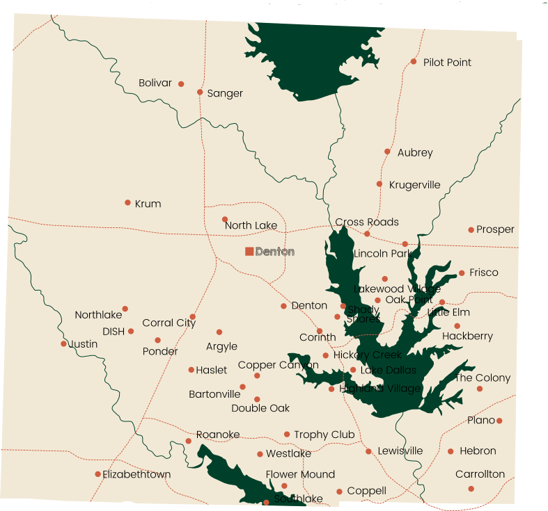 denton cities