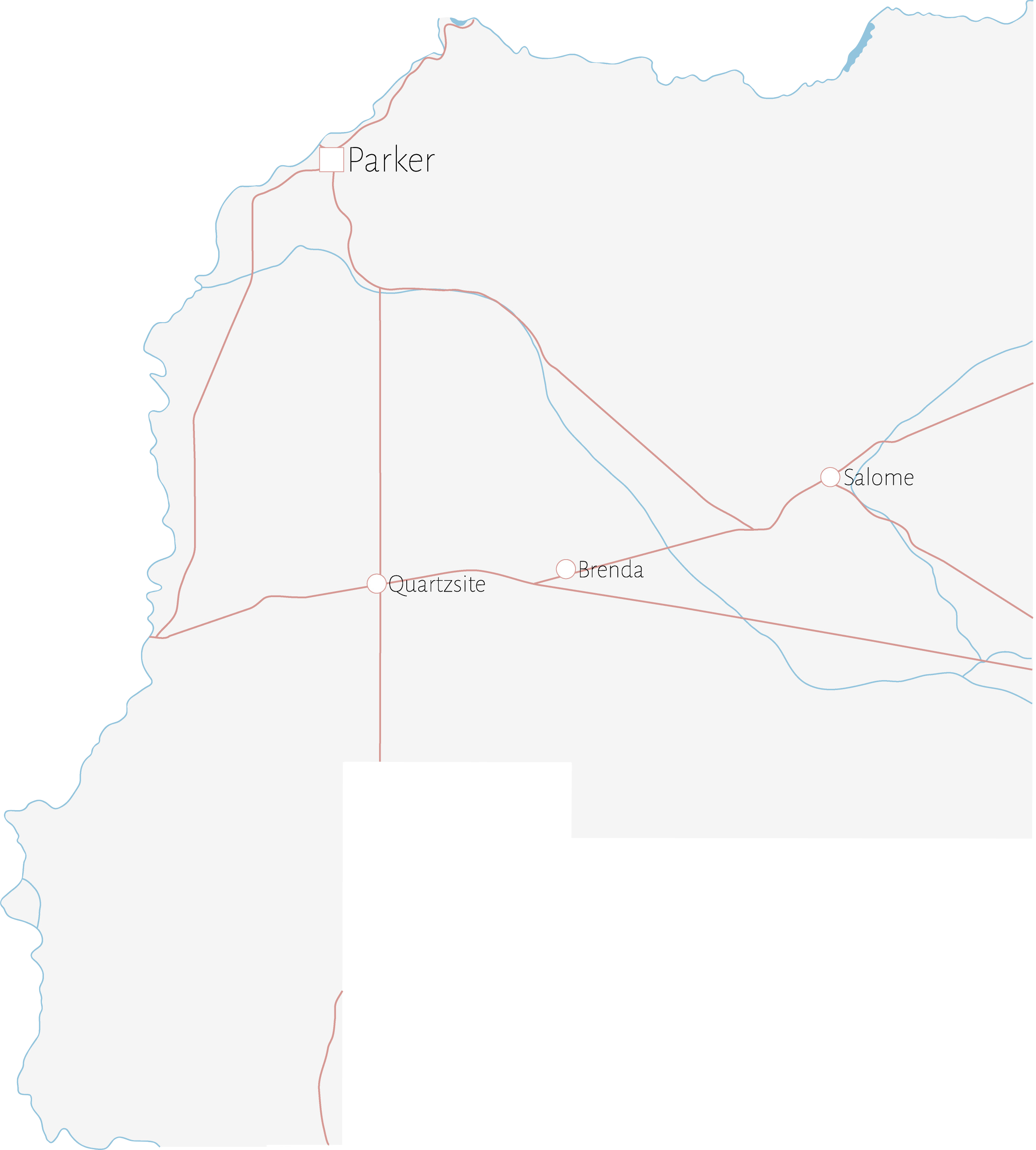 Map of Parker County